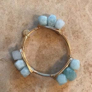 Jewelry - Chunky light blue costume bracelet